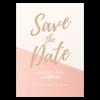 Save the date mariage rose et or, Nude à personnaliser sur papier irisé