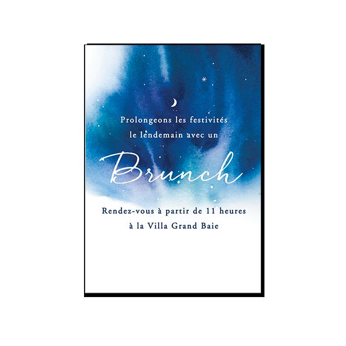 Invitation Mariage Brunch Ou Dîner Séparé Faire Part Nuit