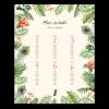 Plan table mariage exotique, poster jungle tropicale, plan table personnalisé