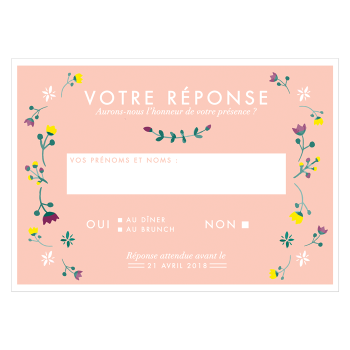 invitation mariage delai invitation repas ange rose fuchsia faire part de mariage original pas. Black Bedroom Furniture Sets. Home Design Ideas