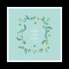 Save the date invitation mariage couronne de fleurs personnalisé sur fond mint