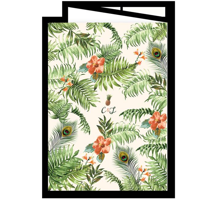 Livret de messe mariage tropicale jungle exotique