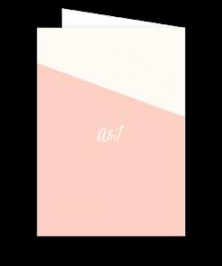 Couverture de livret de messe de mariage, Rose Nude, rose poudré