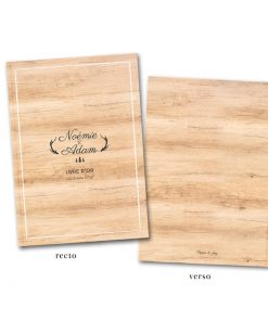 Livre d'or Mariage Bois, forêt cerf et sapins