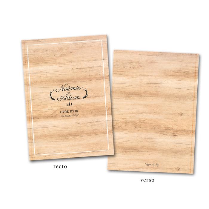 livre d 39 or de mariage nature sur fond bois un mariage dans la for t. Black Bedroom Furniture Sets. Home Design Ideas
