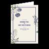 Couverture livret de messe de mariage jardin botanique, fleur floral, personnalisable