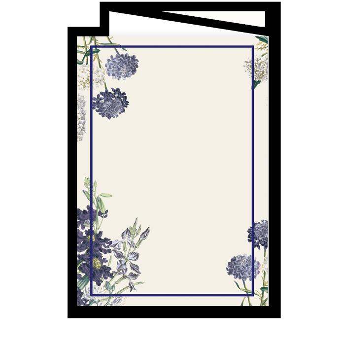 Couverture de livret de messe de mariage floral, jardin botanique