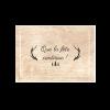 Carton invitation mariage foret bois nature. Sapin et cerf. Petit carton d'invitation au dîner.