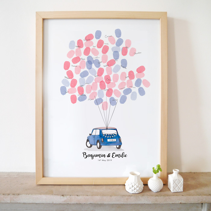Mariage mini rover poster livre d'or