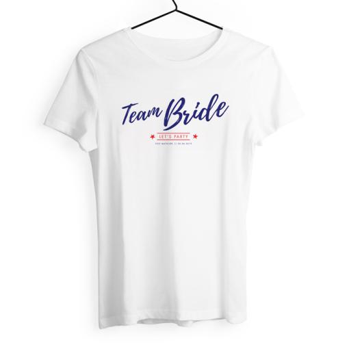 tshirt personnalisé EVJF Team bride