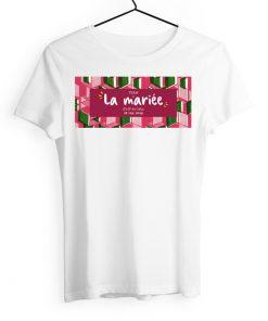 Tshirt evjf wax afrique ethnique, mariage motif coloré