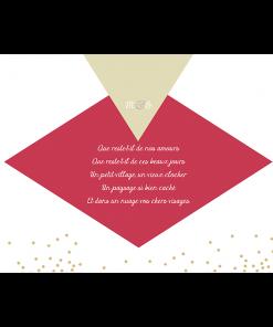 Carte remerciements mariage thème diamant. Exemple texte merci