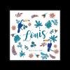 faire part naissance Louis oiseau exotique Toucan, fleurs exotiques. papier de création