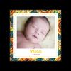 Faire-part naissance fille photo Nina. motif wax moderne et chic. Faire-part naissance bébé fille