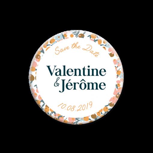 save the date mariage liberty magnet personnalisé, motif fleurs
