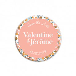 save the date mariage liberty magnet fond rose