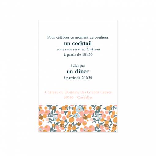 Carton invitation mariage liberty diner brunch