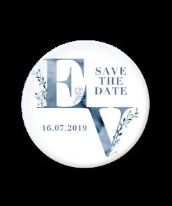save the date magnet mariage aquarelle bleue