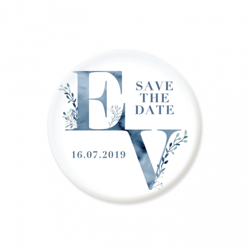 save the date magnet mariage aquarelle bleue
