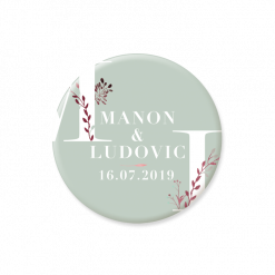 save the date magnet mariage champêtre. Mariage aquarelle.