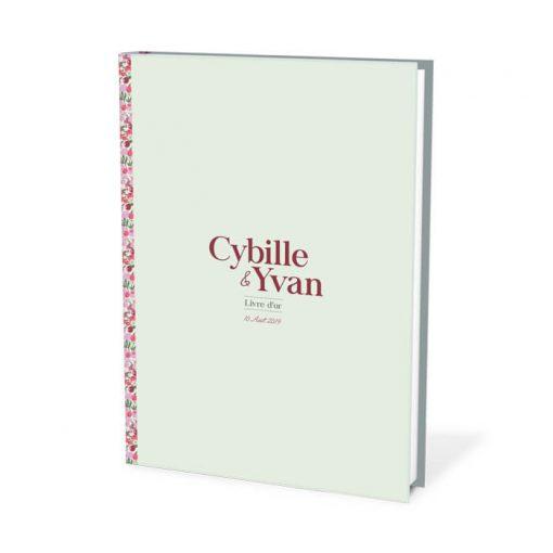 livre d'or mariage liberty, couleurs personnalisées.