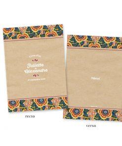 livre d'or mariage personnalisé wax inspiration d'Afrique, ethnique chic