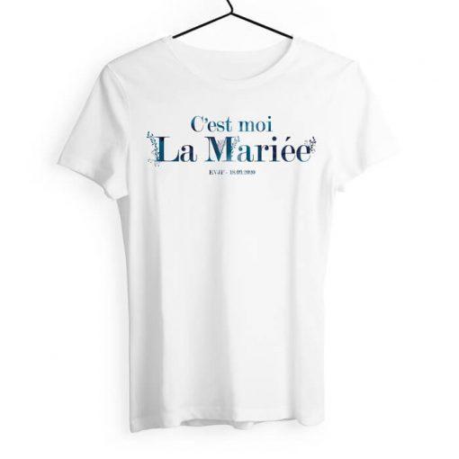 T-shirt EVJF personnalisé et imprimé avec votre texte. Couleurs au choix.