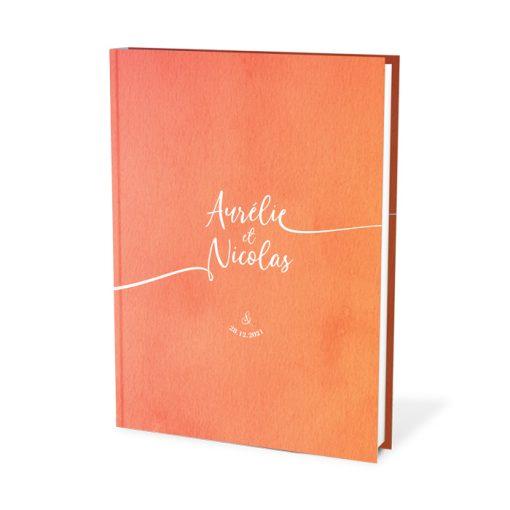 Livre d'or mariage cahier A4. Couverture personnalisées avec vos couleurs et prénoms.