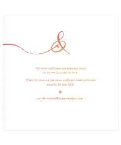 invitation mariage bilingue et trilingue. Texte aquarelle