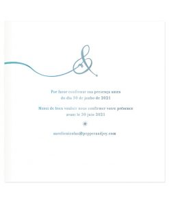 faire-part mariage logo &. Création à l'aquarelle, texte mariage bilingue ou trilingue.