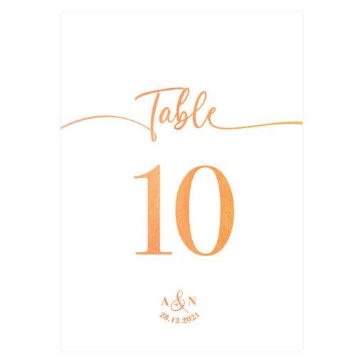 Carte nom table ou carte numéro table mariage. Aquarelle orange