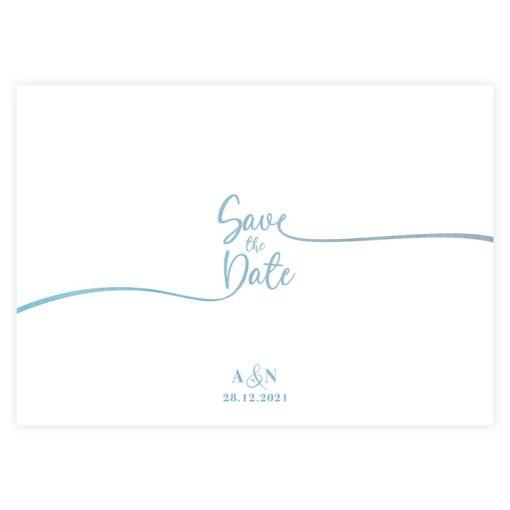 carton save the date mariage, vue sans le magnet