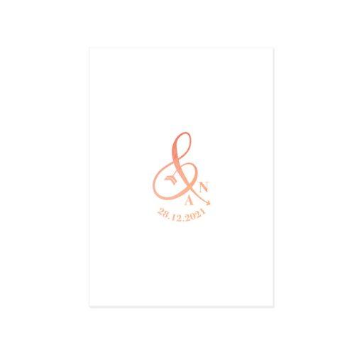 Invitation mariage diner, repas ou brunch du lendemain.Logo des mariés avec & et initiales.