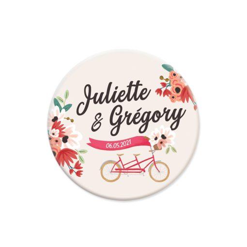 save the date magnet tandem, mariage champêtre