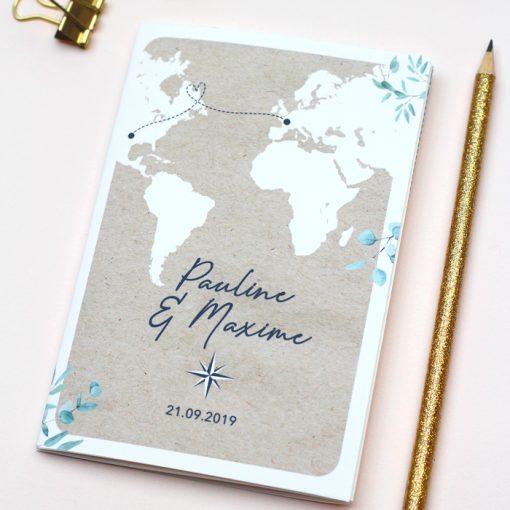 invitation mariage passeport, mariage voyage international