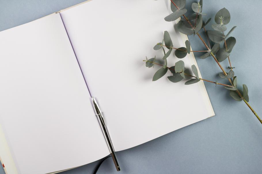 Livre d'or mariage personnalisé pages intérieures blanches