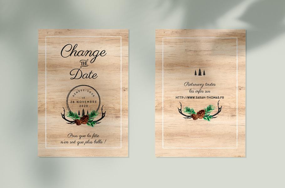 Changer date mariage coronavirus, faire-part mariage
