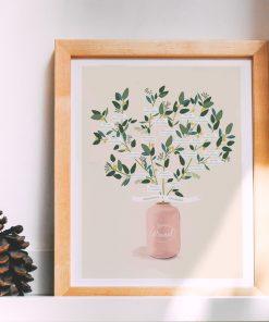 Cadre arbre genealogique illustré personnalisé. Abre de famille sur mesure imprimé