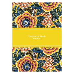 Carte save the date mariage africain, motif wax