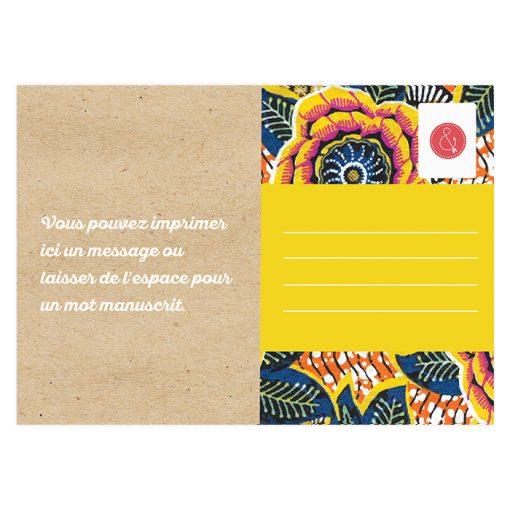 Carte postale save the date mariage motif wax