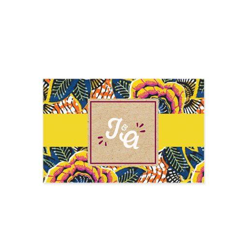marque place mariage wax, logo avec initiales des mariés