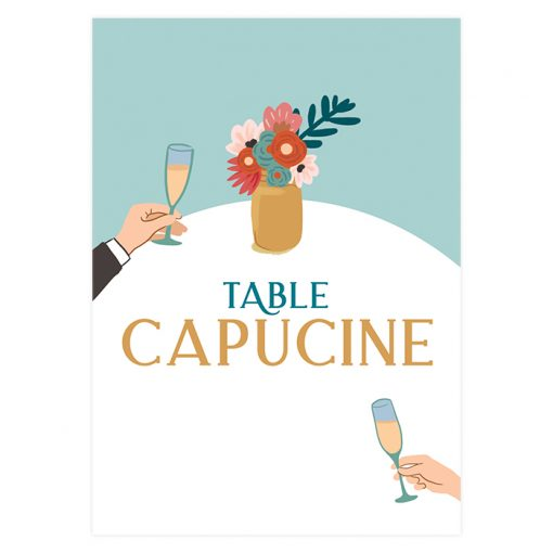 Carte nom de table mariage. Décoration table mariage