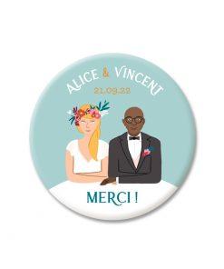 Save the date ou cadeau mariage, portrait des mariés