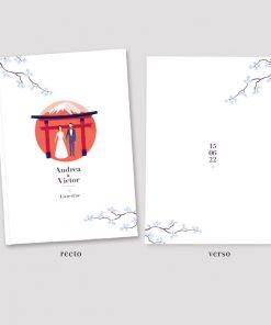 Livre d'or mariage Japon, livre personnalisé pour un souvenir unique de votre mariage Nippon.
