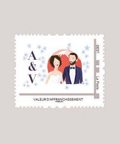 Timbre personnalisé mariage Japon