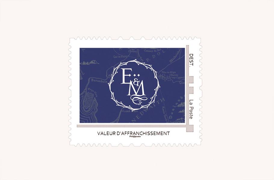 timbre mariage tolkien, invitation seigneur des anneaux