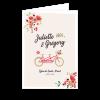 livret de messe mariage bohème champêtre, tandem et fleurs