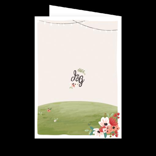 livret de messe imprimé personnalisé. mariage Tandem, champêtre et bohème