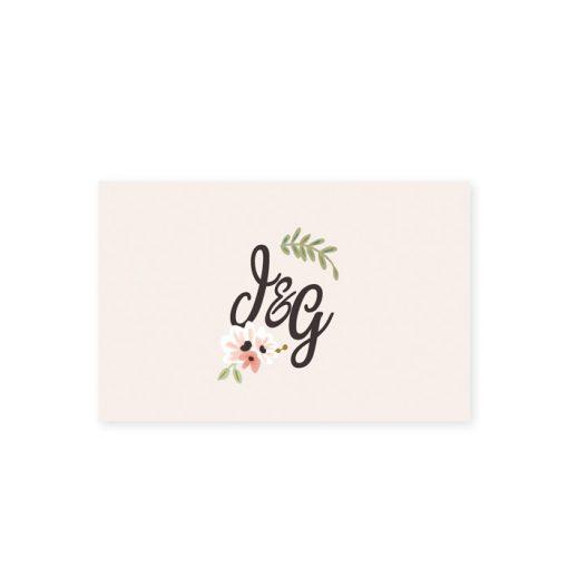 marque place personnalisé, mariage champêtre, logo initiales des mariés