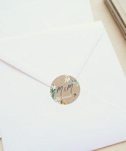 Sticker mariage personnalisé, voyage international, avion et fleurs